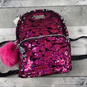 Justice kitty cat sequin mini backpack